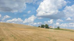 house on the Polish field