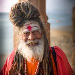 incredible India - the wise man in Varanasi