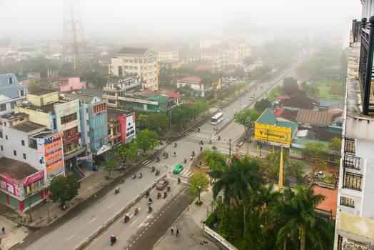 good morning Vietnam - foggy imperial city
