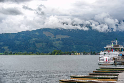 on the lake in Zell am See