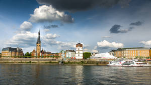 Duesseldorf from the Rhein