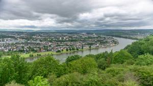 The German corner of the Rhein