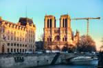 Paris - Notre Dame under afternoon sun