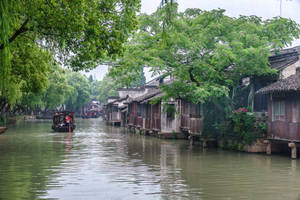surprising China - town on water