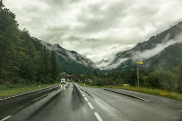 Clouds on our way in Austria