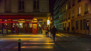 In and Out - Paris Cafe in the night