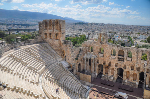 Theatre of Dionysus reigning over Athens