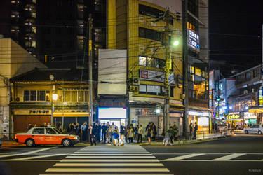 people in Kyoto night