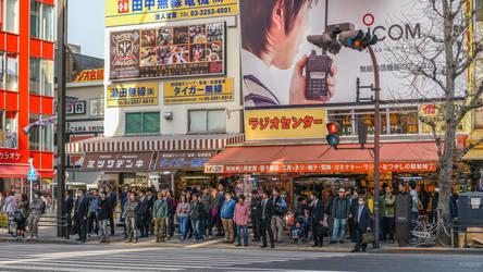 people in Akihabara