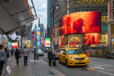 pulsating hours in Manhattan
