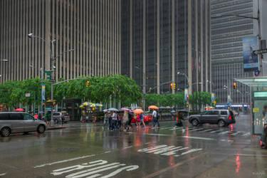 Umbrellas in Manhattan
