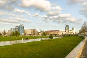 Modern Baku under the Azeri sky