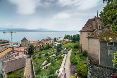 View of the lake from the castle by Rikitza