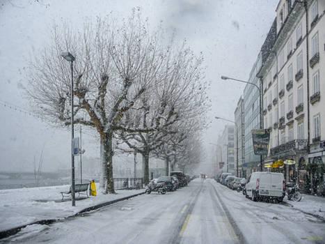 colorless winter day in Geneva