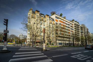 corner and cafe in Montparnasse