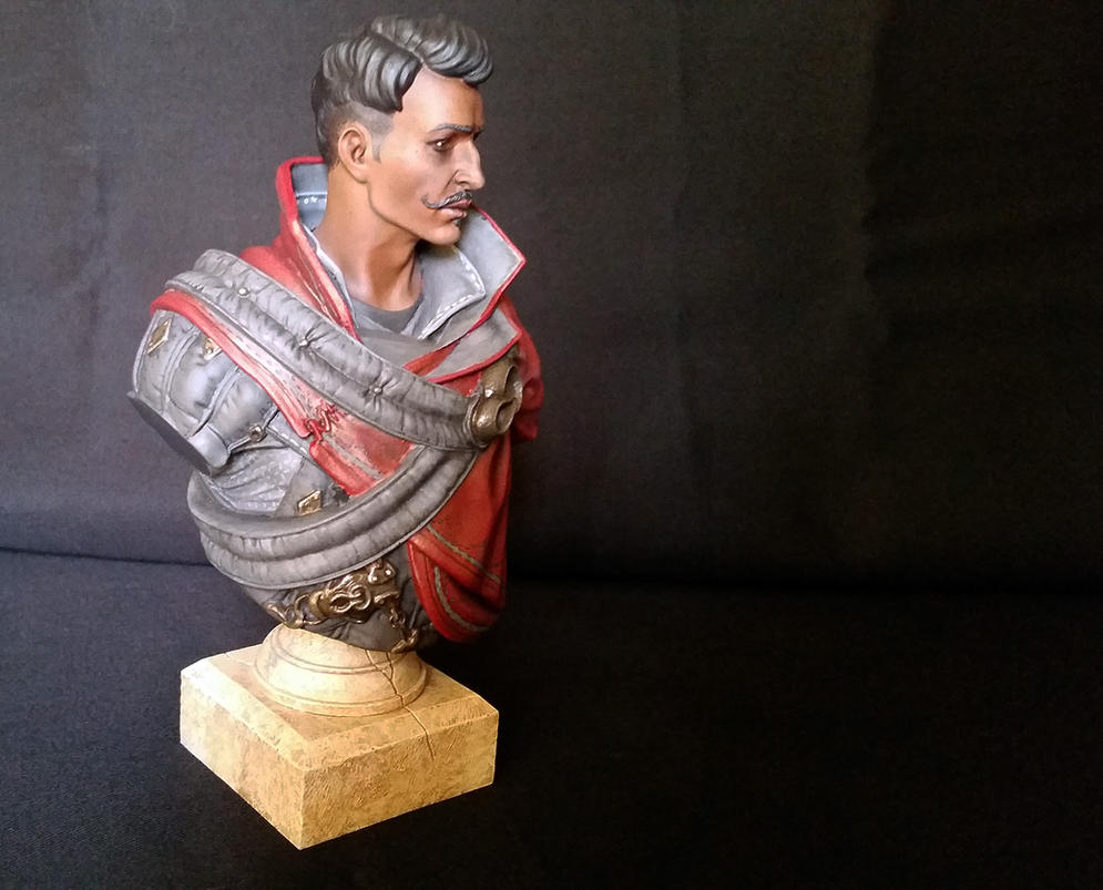 Dorian Bust Repaint by MistyKat
