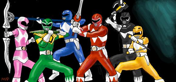 Power Rangers by TheMinx