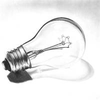 Light Bulb Drawing by TheMinx