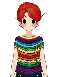 :Rainbow Sweater Shirt Thingy Export: by K-A-R-D