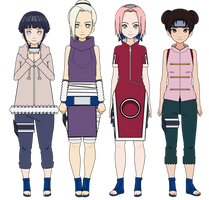 :Konoha Genin [Female Ver.]: (+Exports) by K-A-R-D