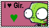 I love gir stamp by PaperIz