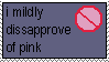 Mildly disaprove of pink stamp by PaperIz