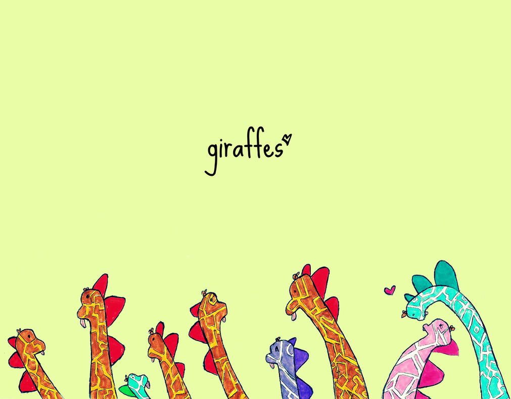 Giraffes Wallpaper By PaperIz On DeviantArt