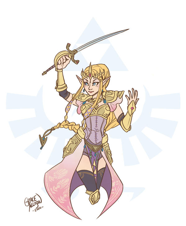 Hylian Warrior Princess by gracifer