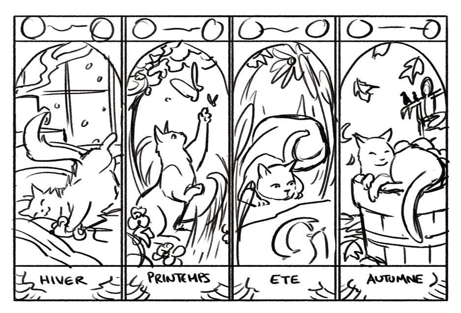 4x6 CATSEASONS by gracifer