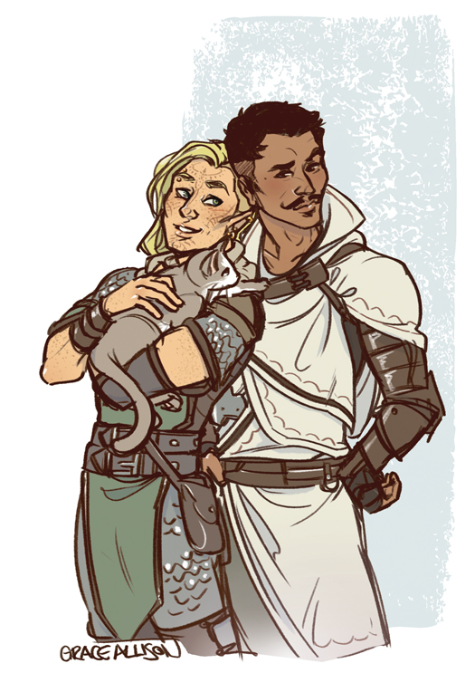 Lelren, Dorian, and a Friend by greyallison