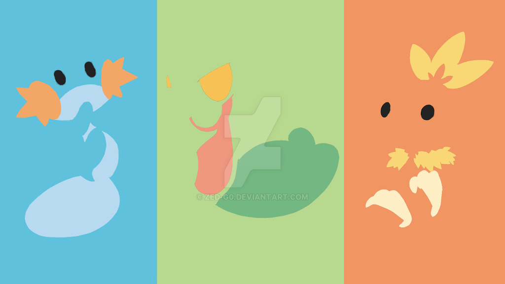 hoenn starter pokemons minimalist by zedg0 on deviantart