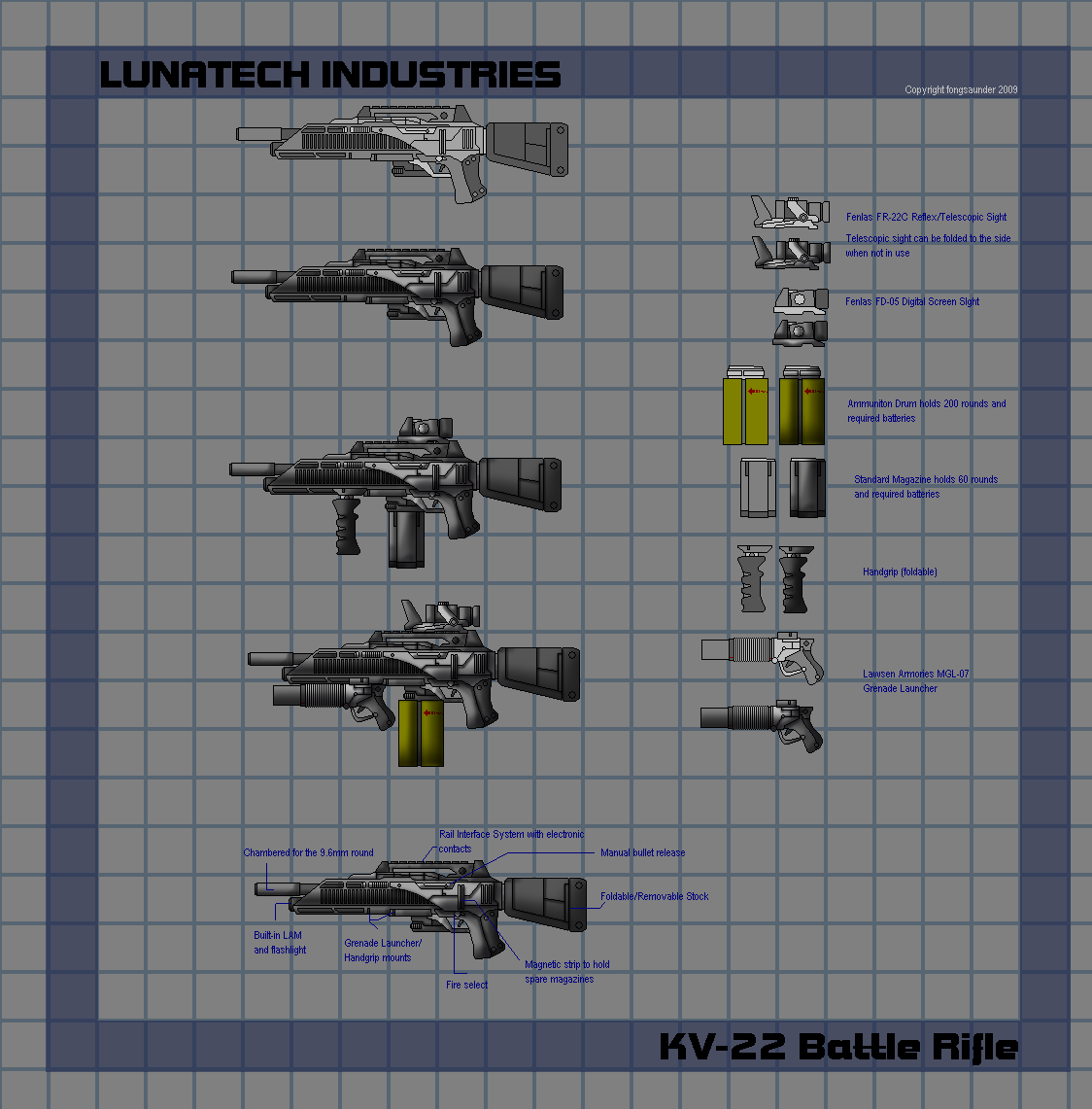 Lunatech KV-22 Battle Rifle by fongsaunder