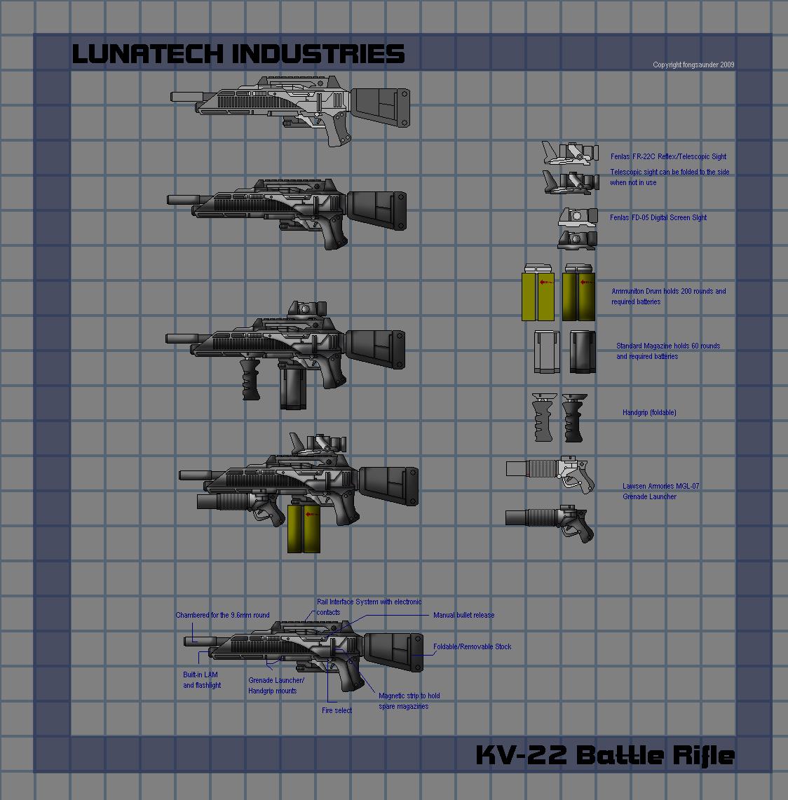 Lunatech KV-22 Battle Rifle by fongsaunder