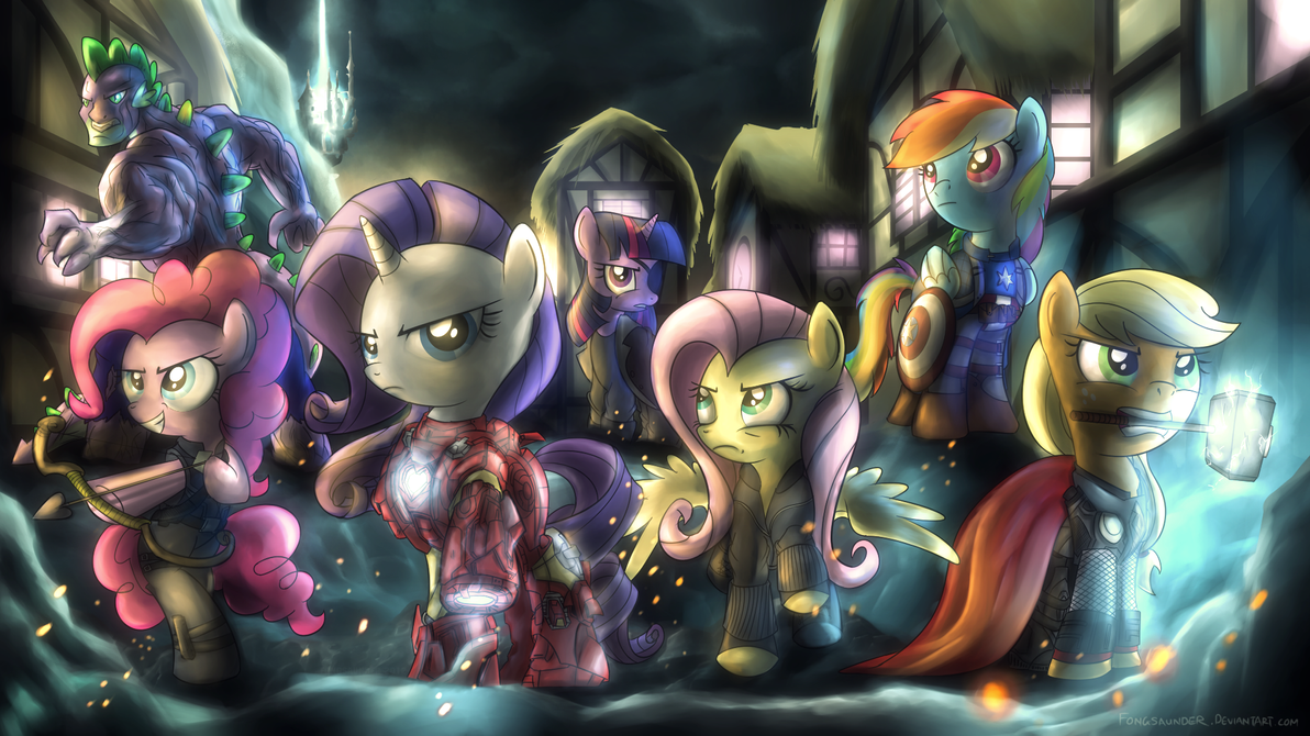 Equestria's Mightiest Heroes by fongsaunder