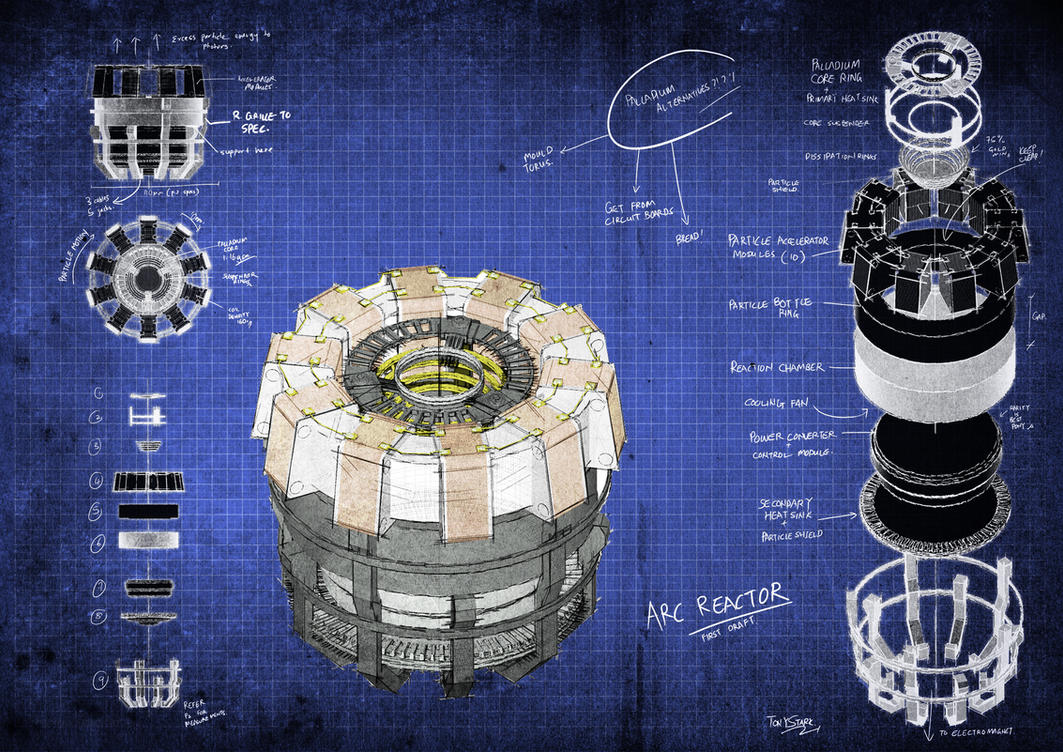 arc reactor blueprints by fongsaunder on deviantart rh deviantart com