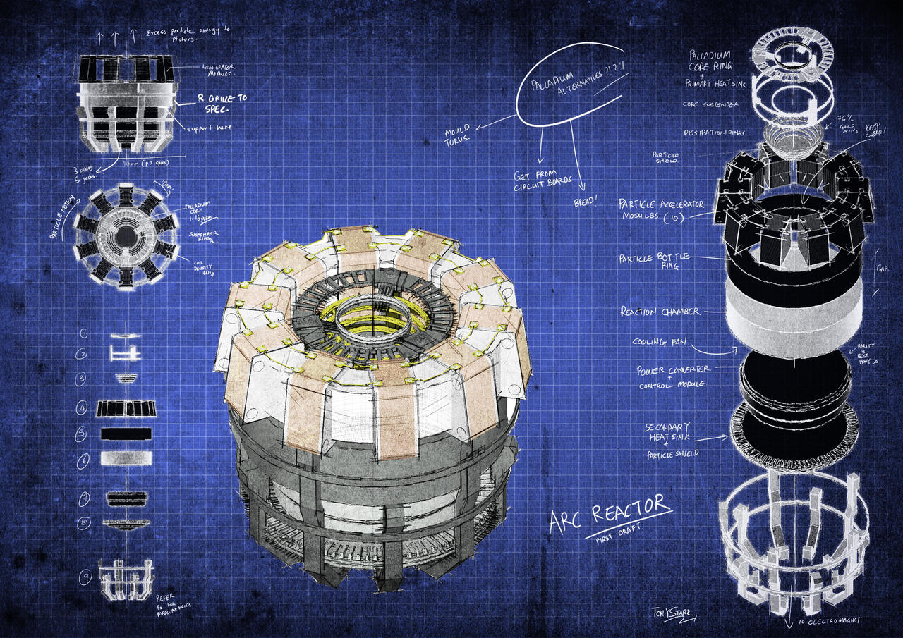Arc Reactor Blueprints by fongsaunder on DeviantArt