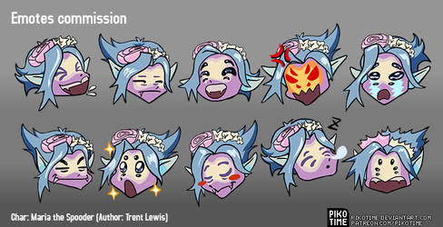 Spooder Emotes Commission
