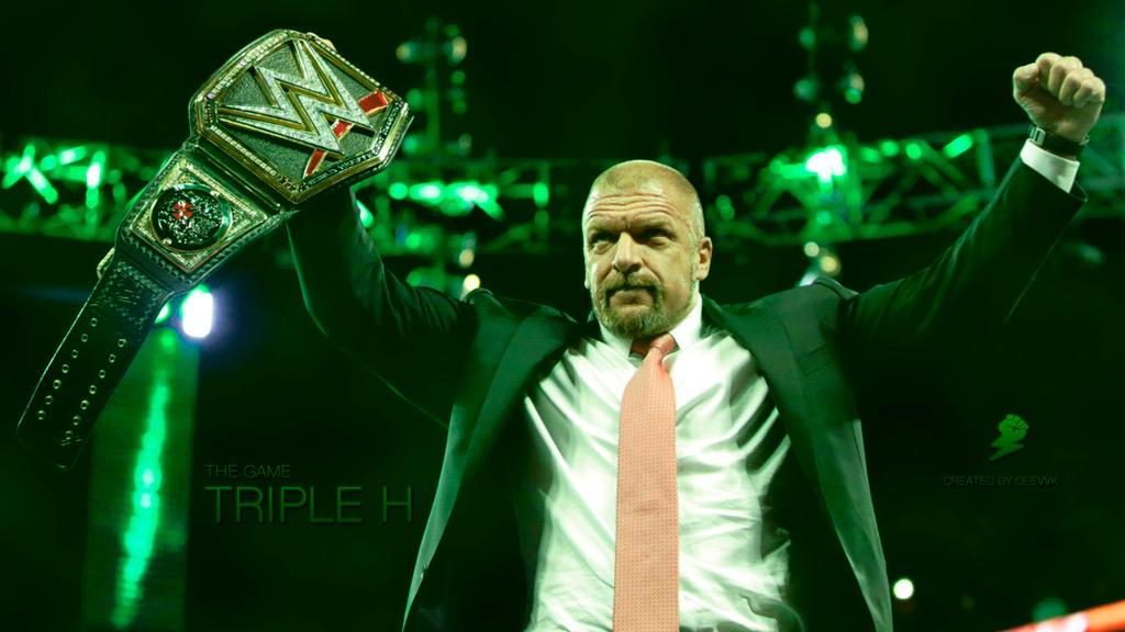 Triple H WWE Champion 2016 HD Wallpaper By DEEVVK