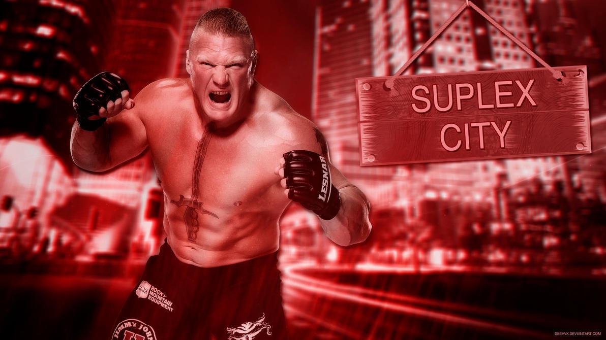 Brock Lesnar 2016 Suplex City HD WallPaper By DEEVVK