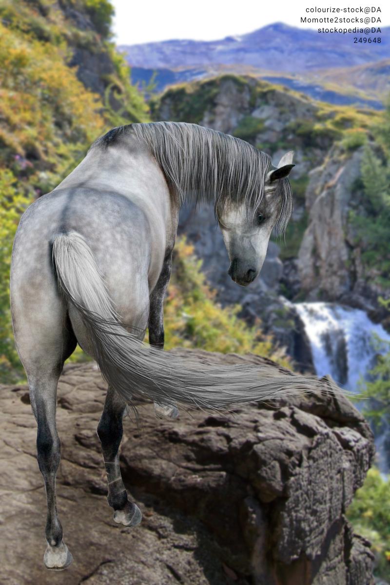 Grey waterfall