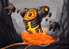 Lavastone monster by ivanev