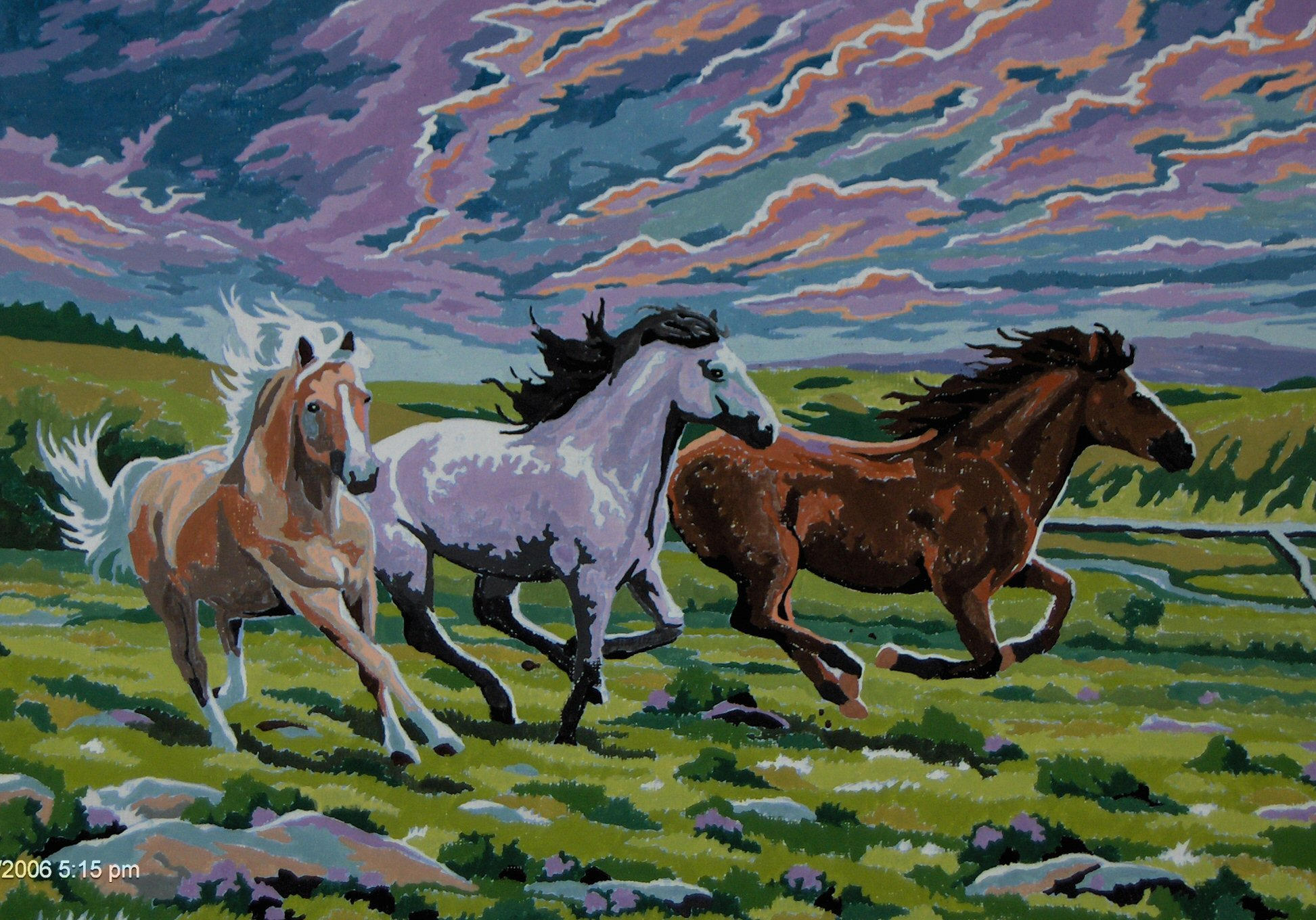 Running horses painting by Tallonis on DeviantArt