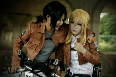 Ymir and Christa by Hunter-Mihael-Keehl