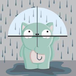 cats don't like the rain by JendySmith
