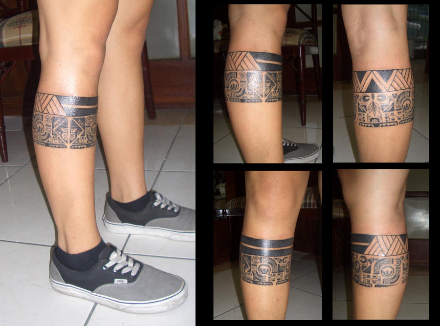 Tribal Leg Band Tattoo