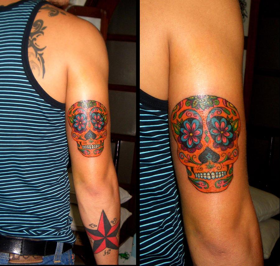 Mexican sugar skull tattoo by camsy on deviantart for Sugar candy skulls tattoos