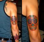 Mexican Sugar Skull Tattoo by camsy