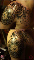 Rose Window Mandala Tattoo by camsy