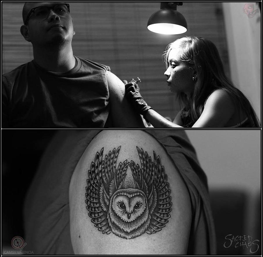 Barn Owl Tattoo by camsy