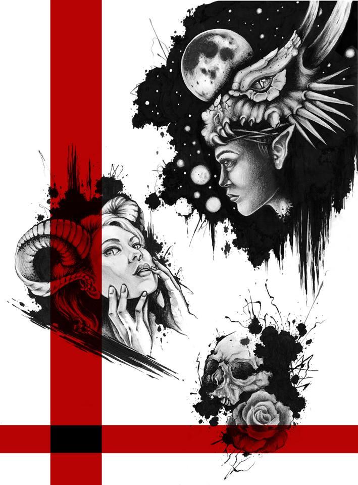 ink splatter designs by camsy